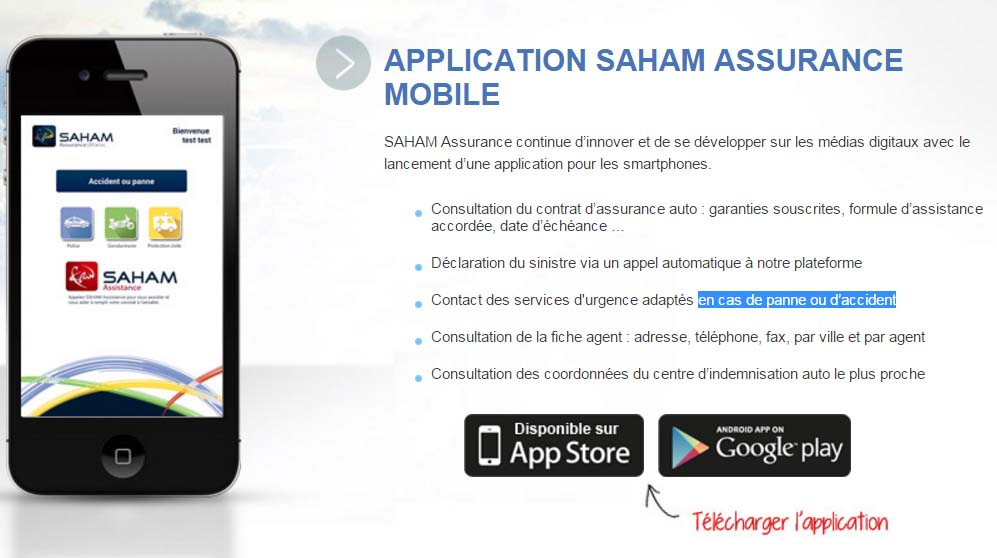 application saham assurance mobile