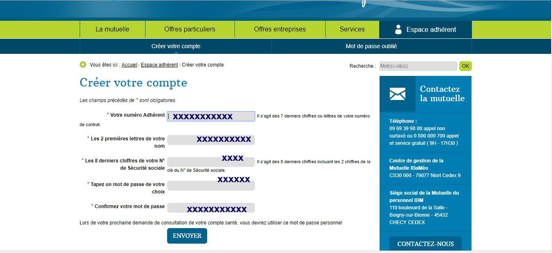 créer-un-compte-Mutuelle du personnel-IBM
