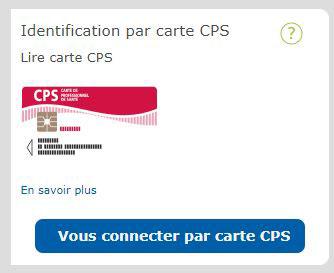 connexion au compte pro ameli.dr par carte CPS