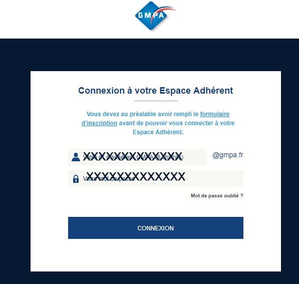connexion au compte GMPA