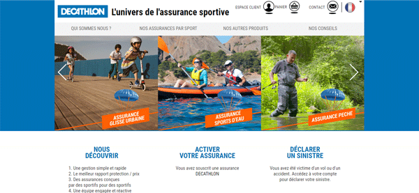 Decathlon assurances sport en ligne
