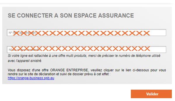 se connecter au compte Orange SPB