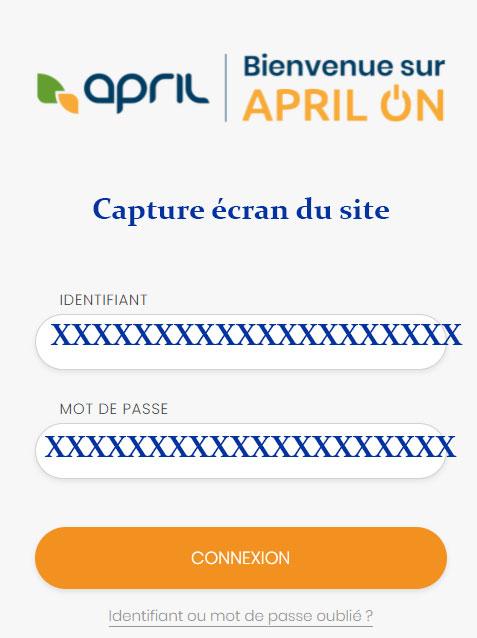 Se connecter à mon espace April On